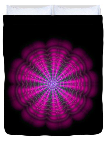 Purple Lightmandala Ripples Duvet Cover by Robert Thalmeier