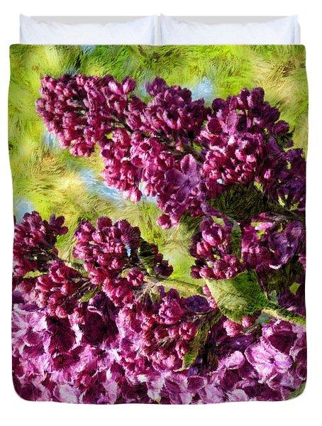 Purple Lilac 1 Duvet Cover