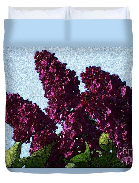 Purple Lilac 3 Duvet Cover by Jean Bernard Roussilhe