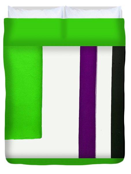 Purple Line Duvet Cover