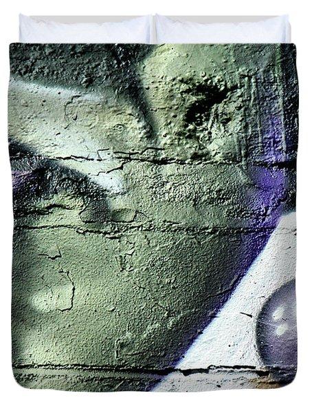 Purple Lips And Earring Duvet Cover