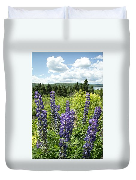 Purple Lupines Duvet Cover by Paul Miller