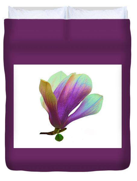 Purple Magnolia Duvet Cover