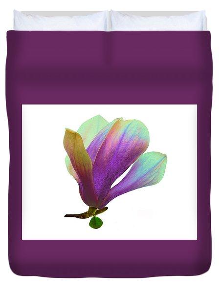 Purple Magnolia Duvet Cover
