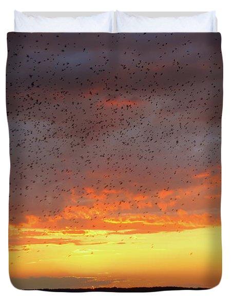 Purple Martin Sunset On Lake Murray Sc Duvet Cover
