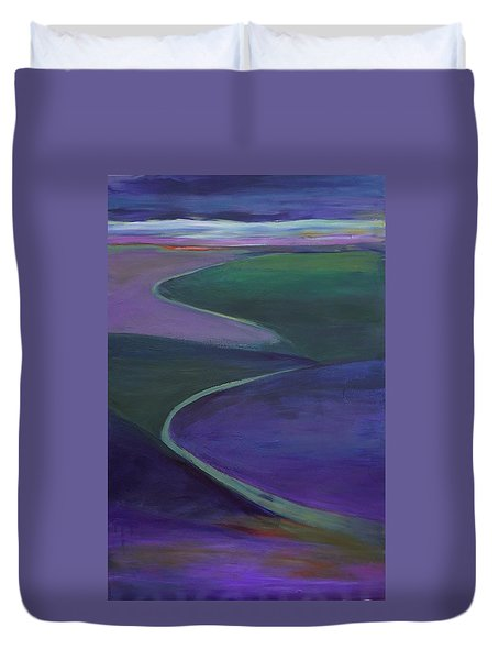 Purple Moor Duvet Cover