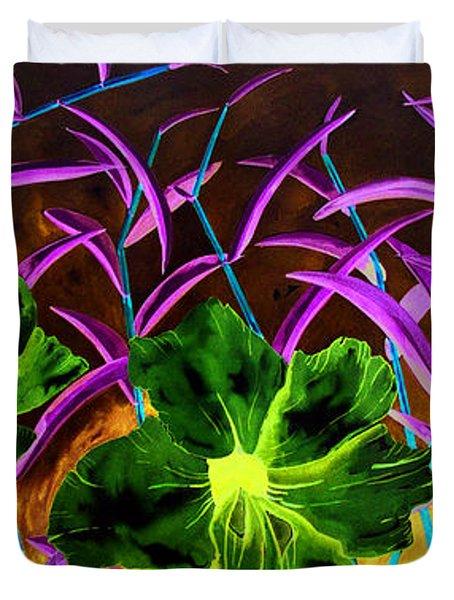 Purple Morning Flower Duvet Cover