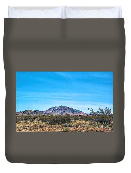Purple Mountain Duvet Cover