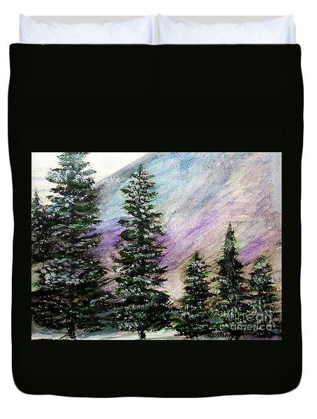 Purple Mountain Majesty Duvet Cover by Scott D Van Osdol