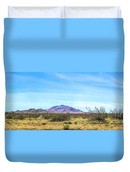 Purple Mountain Panoramic Duvet Cover