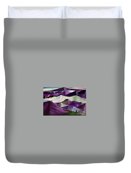 Purple Mountains Majesty Duvet Cover by Kim Nelson