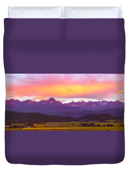 Purple Mountains Panorama Duvet Cover