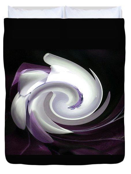 Purple Nautilus Duvet Cover