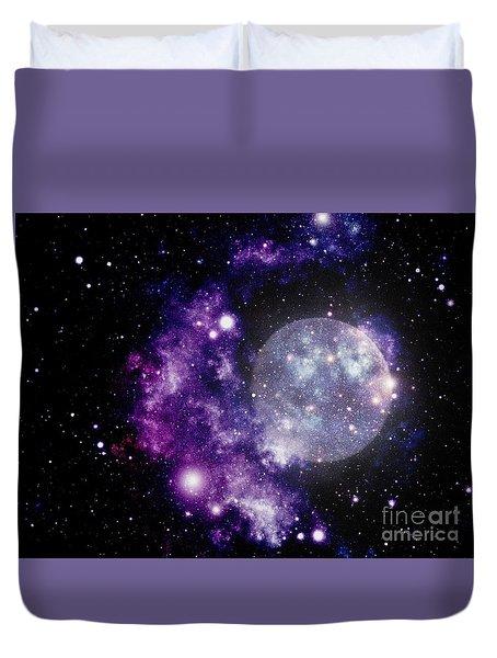 Purple Nebula Duvet Cover