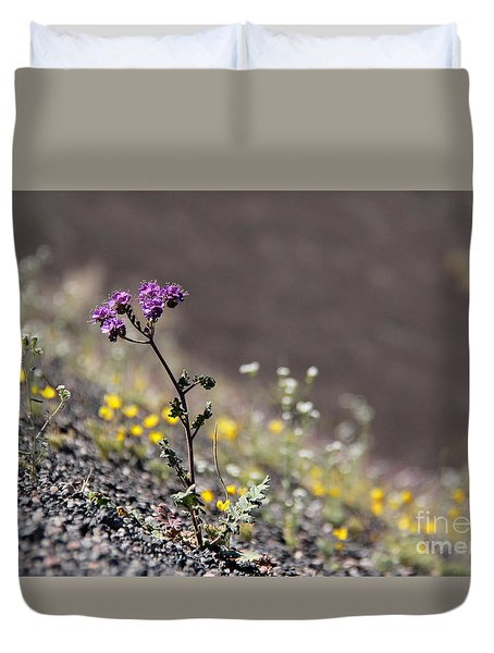 Duvet Cover featuring the photograph Purple Notchleaf by Suzanne Oesterling
