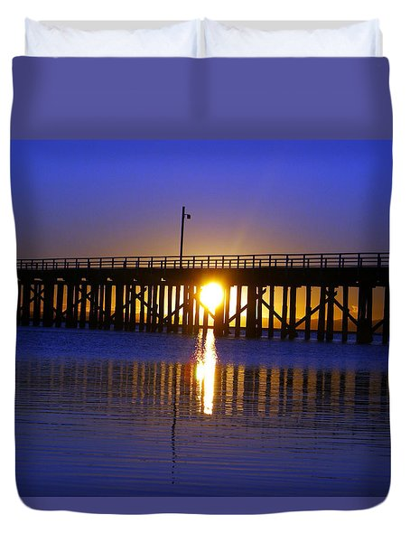 Purple Ocean Sunrise Duvet Cover