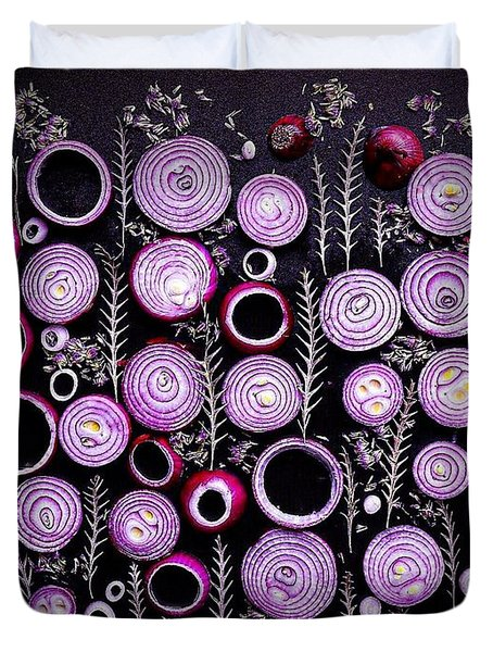 Purple Onion Patterns Duvet Cover