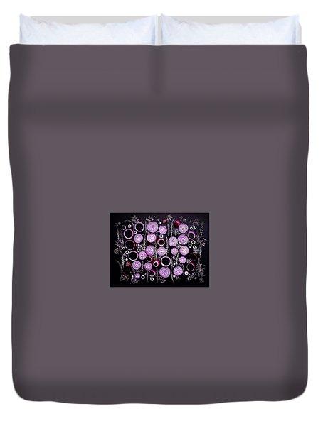 Purple Onion Patterns Duvet Cover