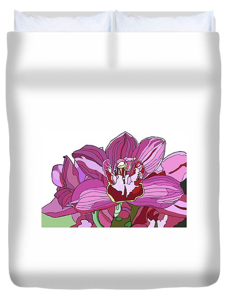 Purple Orchid Duvet Cover by Jamie Downs