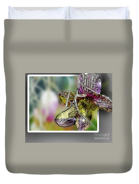 Purple Orchid Pop Duvet Cover