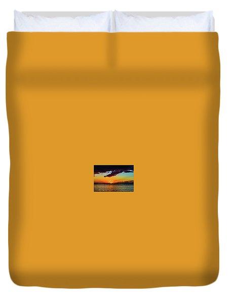 Purple Paints The Orange Duvet Cover