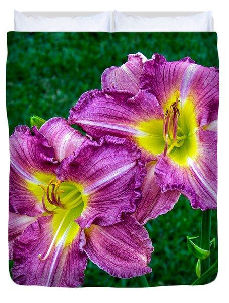 Purple Pair Duvet Cover