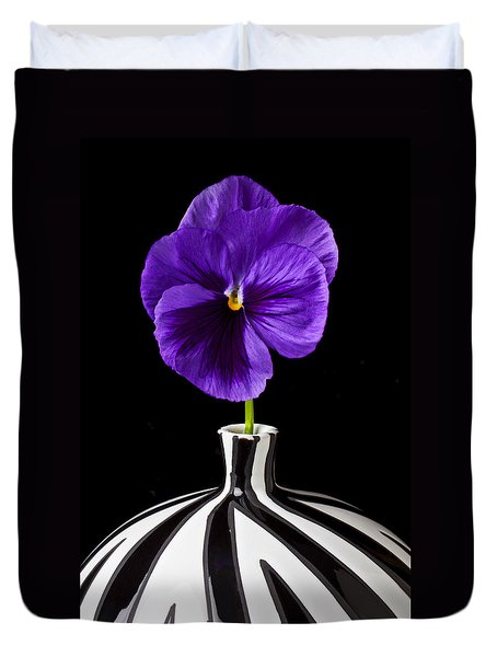 Purple Pansy Duvet Cover by Garry Gay