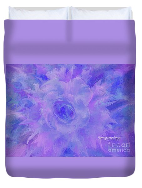 Purple Passion By Sherriofpalmspringsflower Art-digital Painting  Photography Enhancements Tradition Duvet Cover