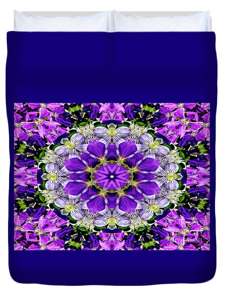 Purple Passion Floral Design Duvet Cover