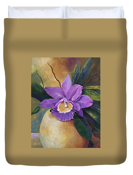 Purple Passion Orchid Duvet Cover