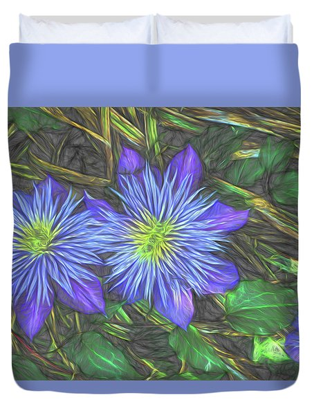 Purple Passion Duvet Cover by Terry Cork
