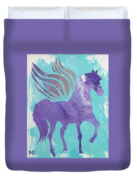 Purple Pegasus Duvet Cover