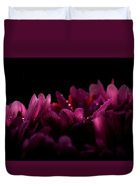 Purple Perennial Duvet Cover