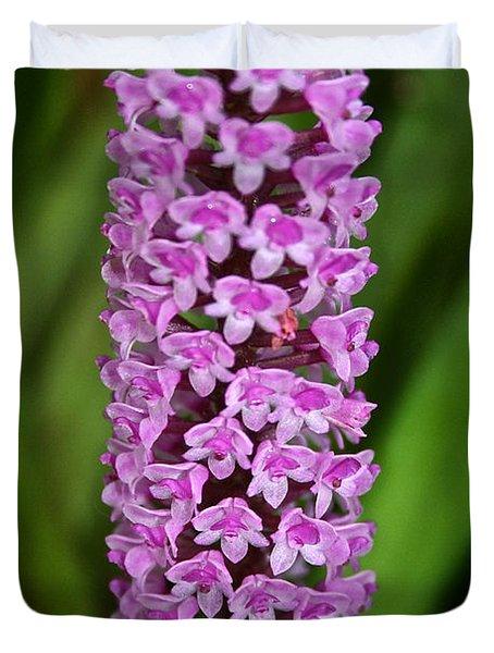 Purple Pillar Duvet Cover