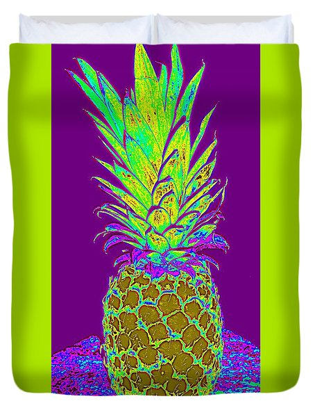 Purple Pineapple Duvet Cover