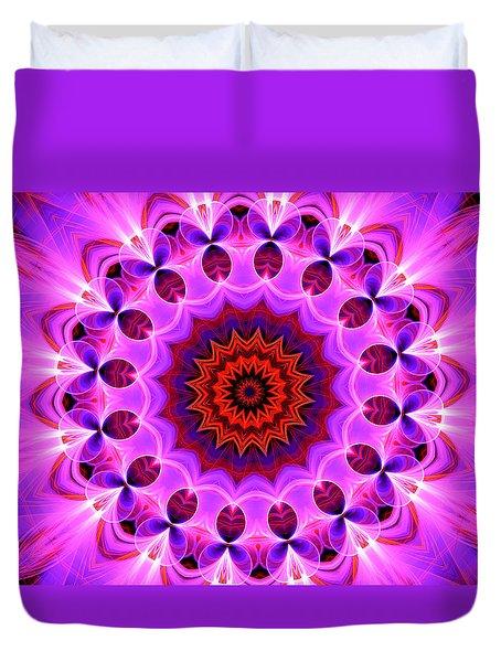 Purple, Pink And Orange Kaleidoscope Duvet Cover