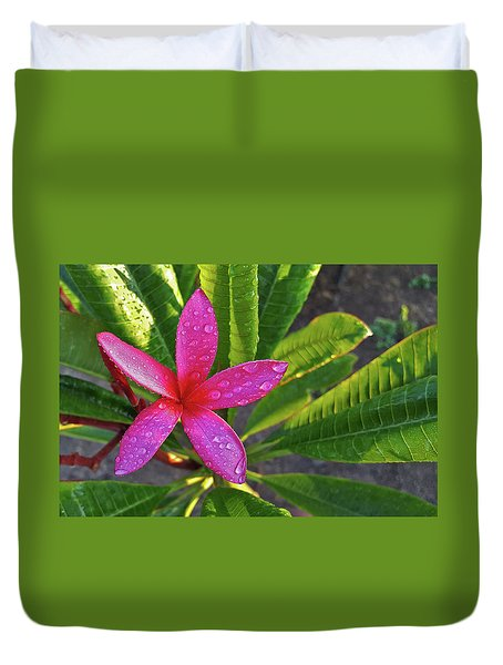 Purple Plumeria Duvet Cover