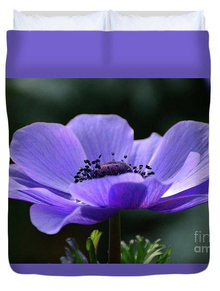Purple Poppy Mona Lisa Duvet Cover