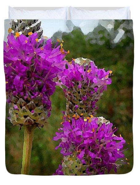 Purple Prairie Clover Duvet Cover