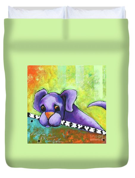 Purple Pup Duvet Cover