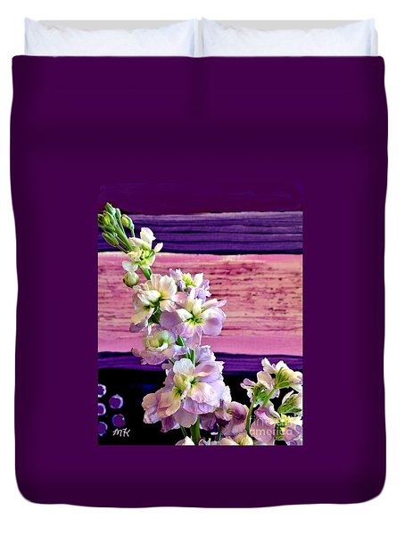 Purple Purple Everywhere Duvet Cover by Marsha Heiken