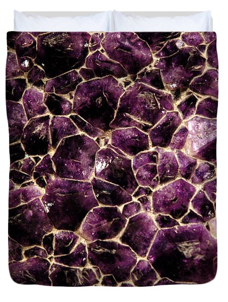 Purple Quartz  Amethyst Duvet Cover by LeeAnn McLaneGoetz McLaneGoetzStudioLLCcom