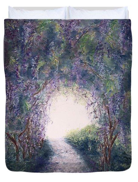 Purple Rain Duvet Cover by Stanza Widen