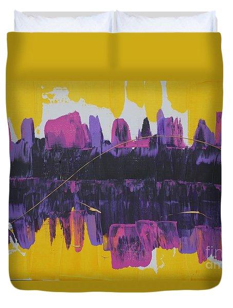 Purple Reflections Duvet Cover