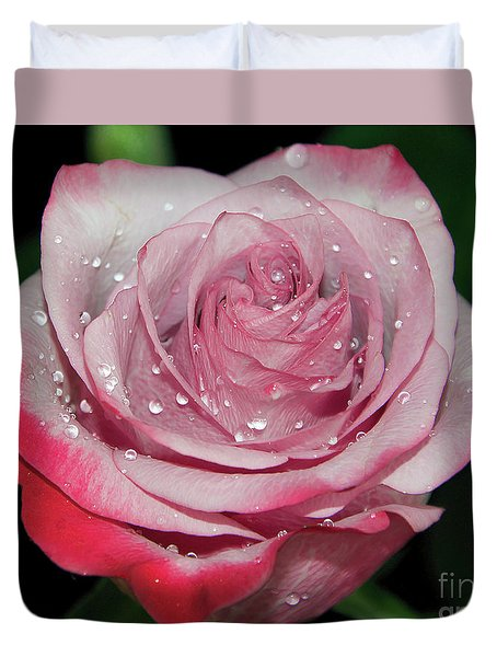 Duvet Cover featuring the photograph Purple Rose by Elvira Ladocki