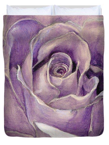 Purple Rose Duvet Cover by Enzie Shahmiri