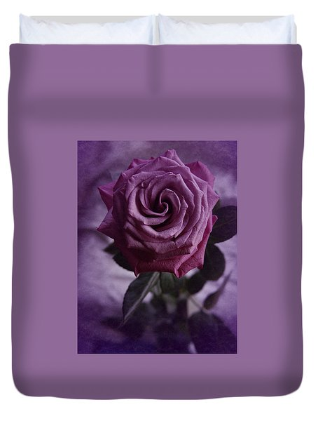 Duvet Cover featuring the photograph Purple Rose Of December by Richard Cummings