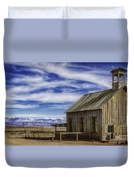 Purple Sage Church Duvet Cover