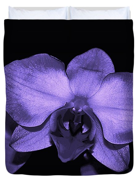 Purple Shades Of Orchids Duvet Cover