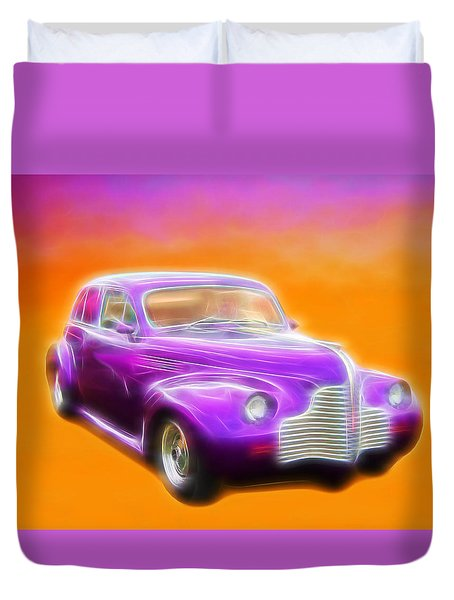 Purple Shadow Cruiser Duvet Cover